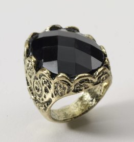 Medieval Fantasy Black Stone Ring