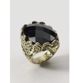 Medieval Fantasy Black Stone Ring