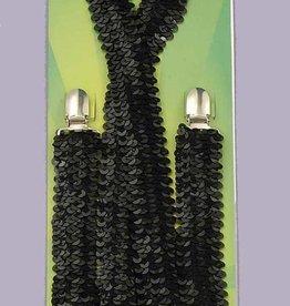 Black Sequin Suspenders