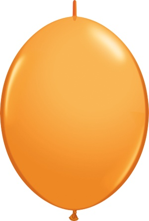 "12"" Orange Linking Balloons 1 Dozen Flat"