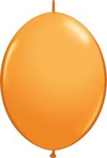 "12"" Orange Linking Balloons 1 Dozen Flat"