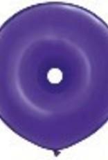 """16"""" Geo Donut Quartz Purple Balloon Flat"""