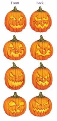 "16"" Scary Pumpkin Cutouts (4)"