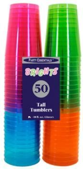 10 oz Neon Tumbler Glasses (50)
