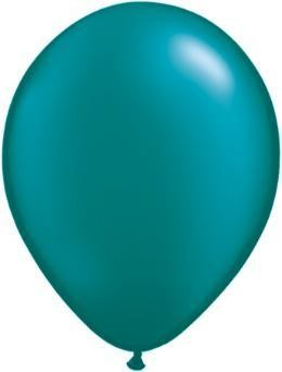 "11"" Pearl Teal Qualatex Latex Balloon 1 Dozen Flat"