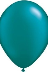 "11"" Pearl Teal Qualatex Balloon 1 Dozen Flat"
