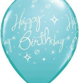 """11"""" Printed Birthday Elegant Sorbet Balloon 1 Dozen Flat"""