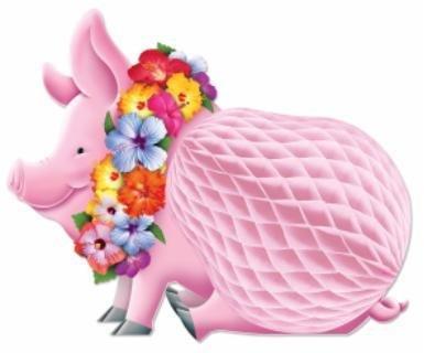 "12"" Luau Pig Centerpiece"