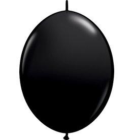 "12"" Onyx Black Linking Balloons 1 Dozen Flat"