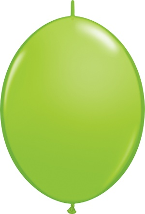 "12"" Lime Green Linking Balloons 1 Dozen Flat"