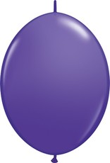 "12"" Purple Violet Linking Balloons 1 Dozen Flat"