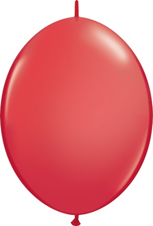 "12"" Red Linking Balloons 1 Dozen Flat"