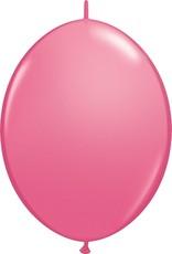 """12"""" Rose Linking Balloons 1 Dozen Flat"""