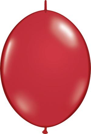"12"" Ruby Red Linking Balloons 1 Dozen Flat"