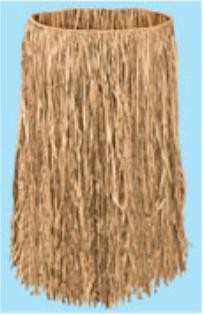 Adult Raffia Hula Skirt Natural