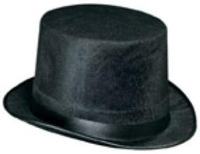 Black Dura-Form Vel-Felt Top Hat