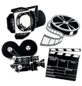 Black and White Movie Set Cutouts