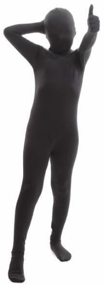 Children's Morphsuit Black Medium (8-10)