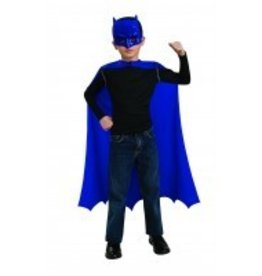 Cape Child Blue Batman With Mask