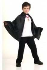 Child Cape Black with Collar