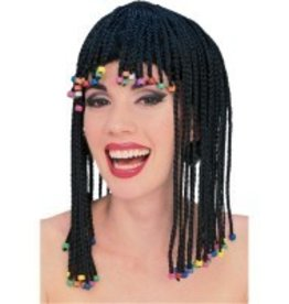 Caribbean Rows Wig With Beads