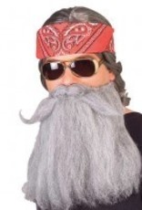 Beard & Moustache Grey