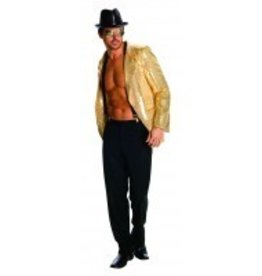 Men's Costume Gold Sequin Jacket XL