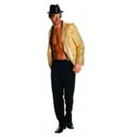 Men's Costume Gold Sequin Jacket XL