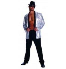 Men's Costume Silver Sequin Jacket