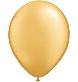 "5"" Balloon Gold 1 Dozen Flat"