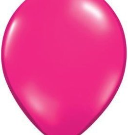 "5"" Balloon Jewel Magenta 1 Dozen Flat"