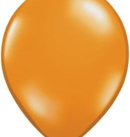 "5"" Balloon Mandarin Orange 1 Dozen Flat"