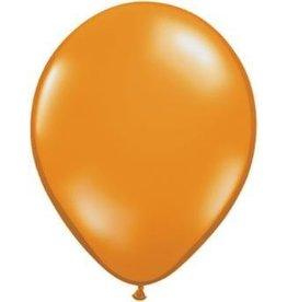 """5"""" Balloon Mandarin Orange 1 Dozen Flat"""