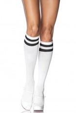 Athletic Knee High Socks White/Black