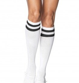Athletic Knee High Socks White/Black