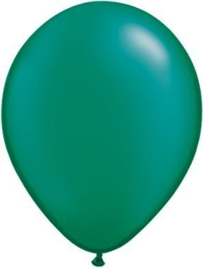 "5"" Balloon Pearl Emerald 1 Dozen Flat"