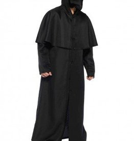 Men's Costume Hood Button Front Cloak Medium/Large