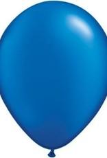 "5"" Balloon Pearl Sapphire Blue 1 Dozen Flat"