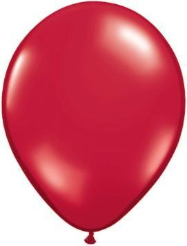 "5"" Balloon Ruby Red 1 Dozen Flat"