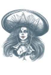 Day of The Dead Temporary Tattoo Bandita