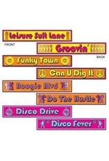 Disco Street Sign Cutouts (4)