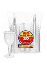 10oz Plastic Wine Glass Clear (20)