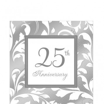 25th Anniversary Lunch Napkin