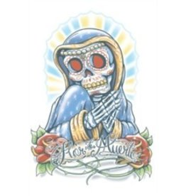 Day of The Dead Temporary Tattoo La Flor