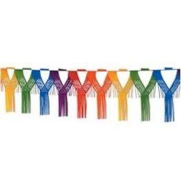 Drop Fringe Garland Rainbow