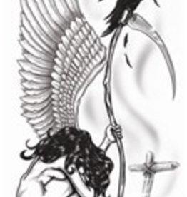 Goth Temporary Tattoo Angel Of Death