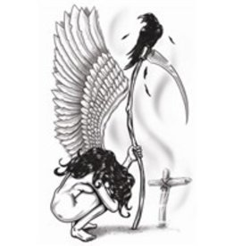 Goth Temporary Tattoo Angel Of Death