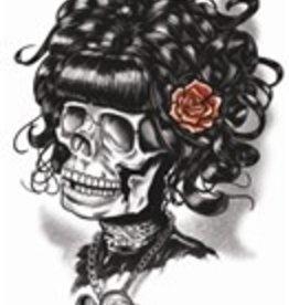 Goth Temporary Tattoo Doris The Death