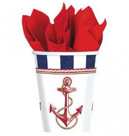 Anchors Aweigh 9oz Cups (8)