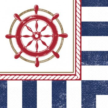 Anchors Aweigh Beverage Napkins (16)